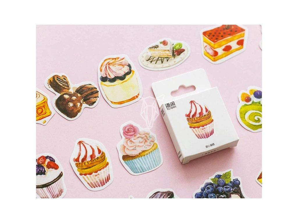 Cupcake samolepky