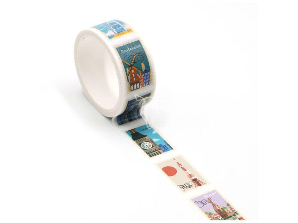 12692 2 washi paska znamky z mest