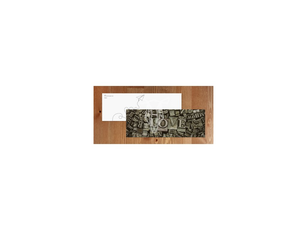 Zakladka Typograficzna litery napis milosc width400 3