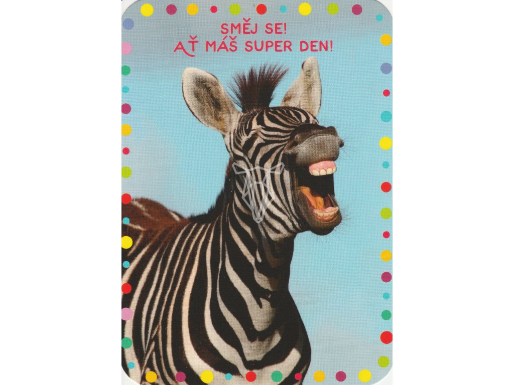 Pohlednice Směj se jako zebra