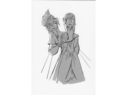Pohlednice Ledové království (Frozen) - Elsa a Anna