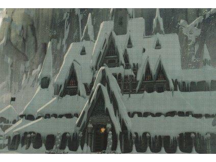 Pohlednice Ledové království (Frozen) - zasněžené Arrendelle