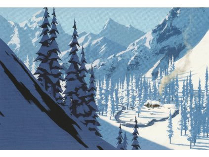 Pohlednice Ledové království (Frozen) - pošta Oaken