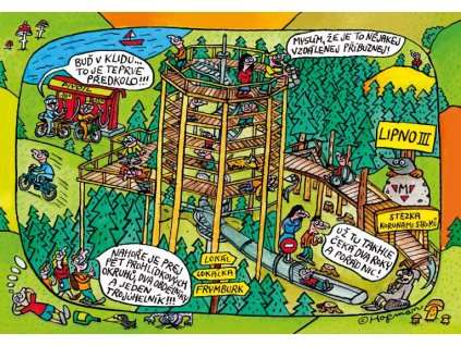 Pohlednice Pidifrk Lipno - Stezka korunami stromů