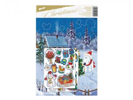 Samolepkový adventní kalendář - motiv 1