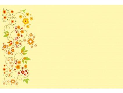 obalka oranžové květy
