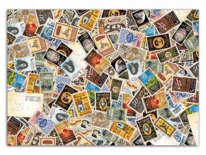 Balící papír Poštovní známky (1 arch)