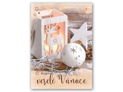 Pohlednice Veselé Vánoce, s textem