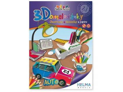 3D omalovánka - Auto