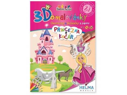 3D omalovánka - Princezna a kočár