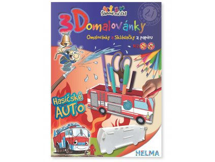 3D omalovánka - Hasičské auto