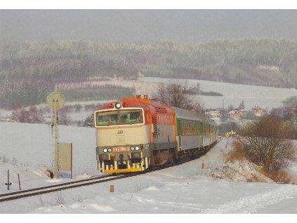 17405 pohlednice vlaky pomeranc 754 050 3