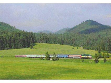 17411 pohlednice vlaky vernar 754 055 2