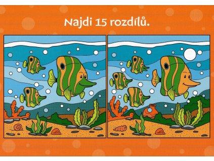 7943 2 pohlednice akvarium 15 rozdilu