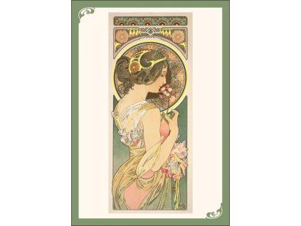 13361 3 pohlednice alfons mucha primavera petrklic