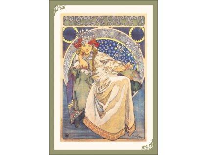 13358 3 pohlednice alfons mucha princess hyacinth princezna hyacinta