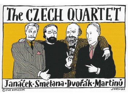 15968 3 pohlednice praha cesky kvartet