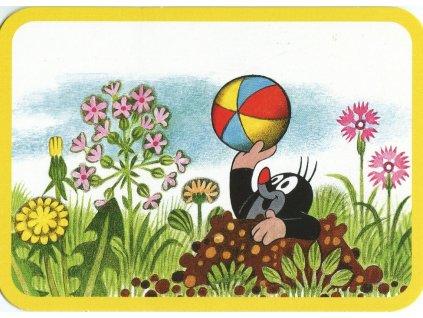 10805 2 pohlednice krtecek s balonem