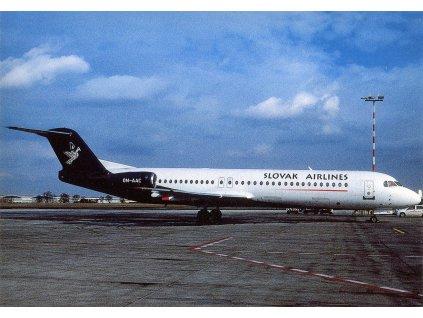 10253 1 pohlednice letadlo fokker 100