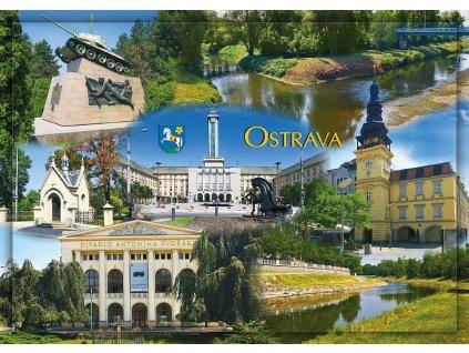 9392 2 pohlednice ostrava