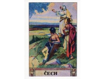 4586 2 pohlednice praotec cech