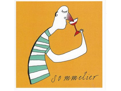 13922 2 pohlednice sommelier ctvercovy