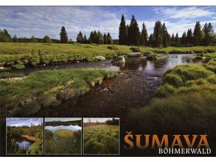 4982 2 pohlednice sumava okolim modravy