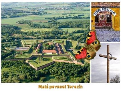 13871 3 pohlednice terezin mala pevnost