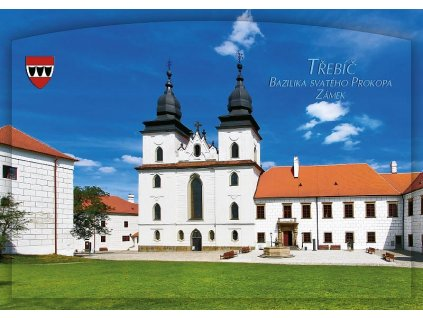 1169 pohlednice trebic bazilika svateho prokopa zamek
