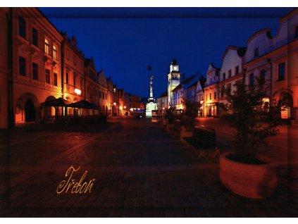 50 pohlednice trebon v noci