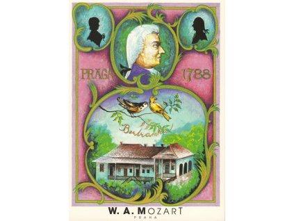 611 2 pohlednice wolfgang amadeus mozart