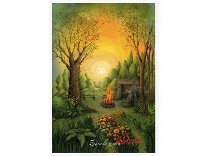 8654 2 pohlednice zahrada zivota