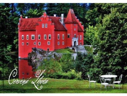 83 pohlednice zamek cervena lhota
