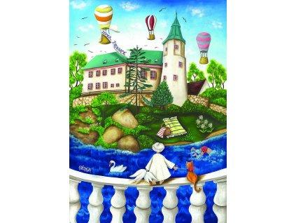 11573 2 pohlednice zamek zirovnice