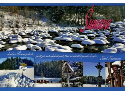344 2 pohlednice zimni sumava