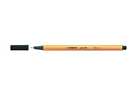 14558 1 popisovac stabilo point 88 cerny liner 0 4 mm