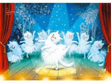 Pohlednice Modré kočky - Baletní představení