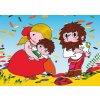 12599 3 pohlednice rumcajs manka cipisek a podzim
