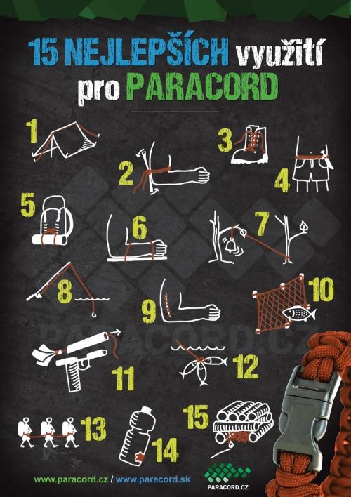 15 top použití paracordu v nouzi
