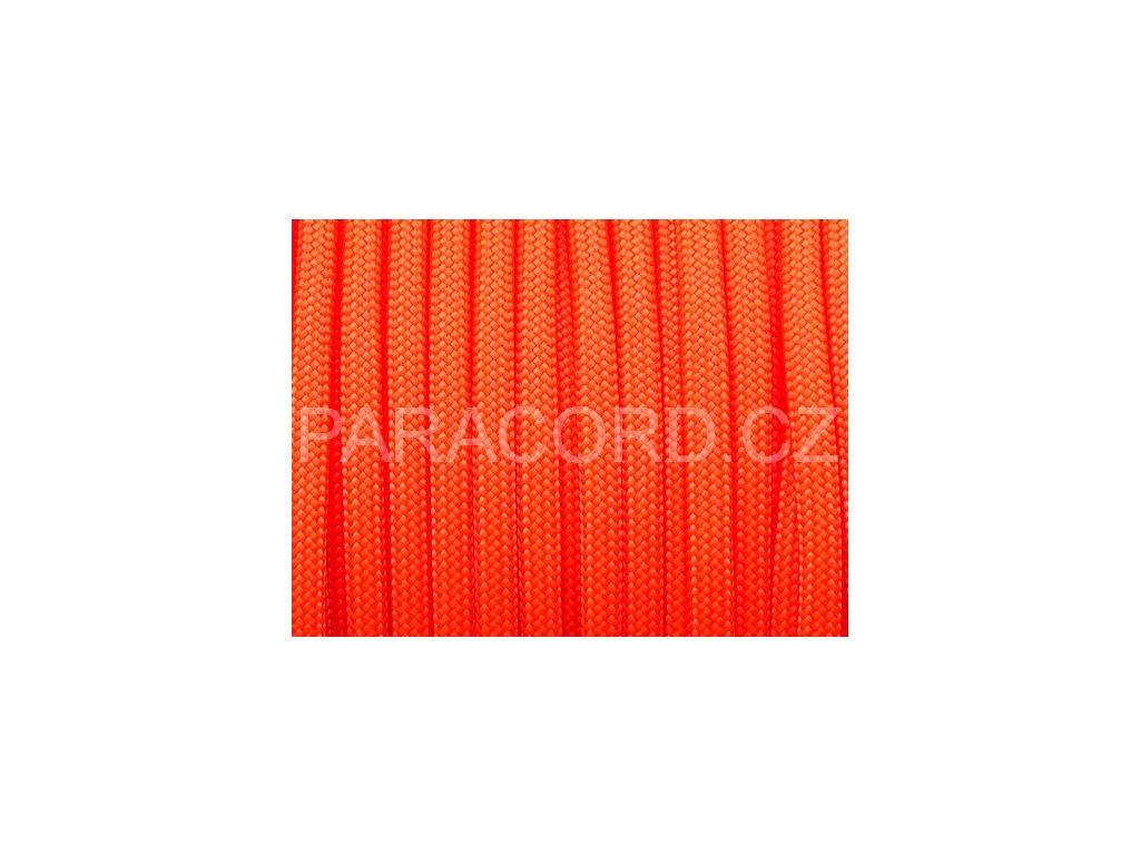 Paracord 550 - neon oranžová