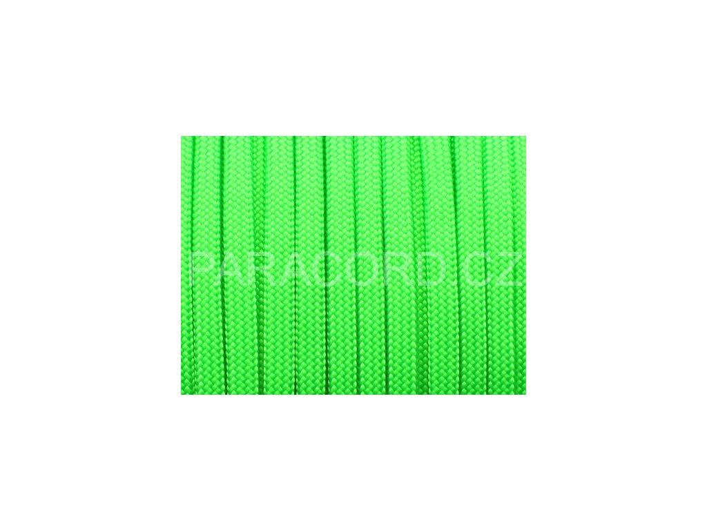 Paracord 550 - neon zelená