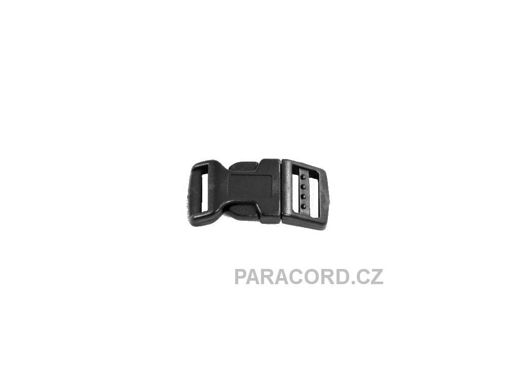 spona trojzubec - černá (16mm)