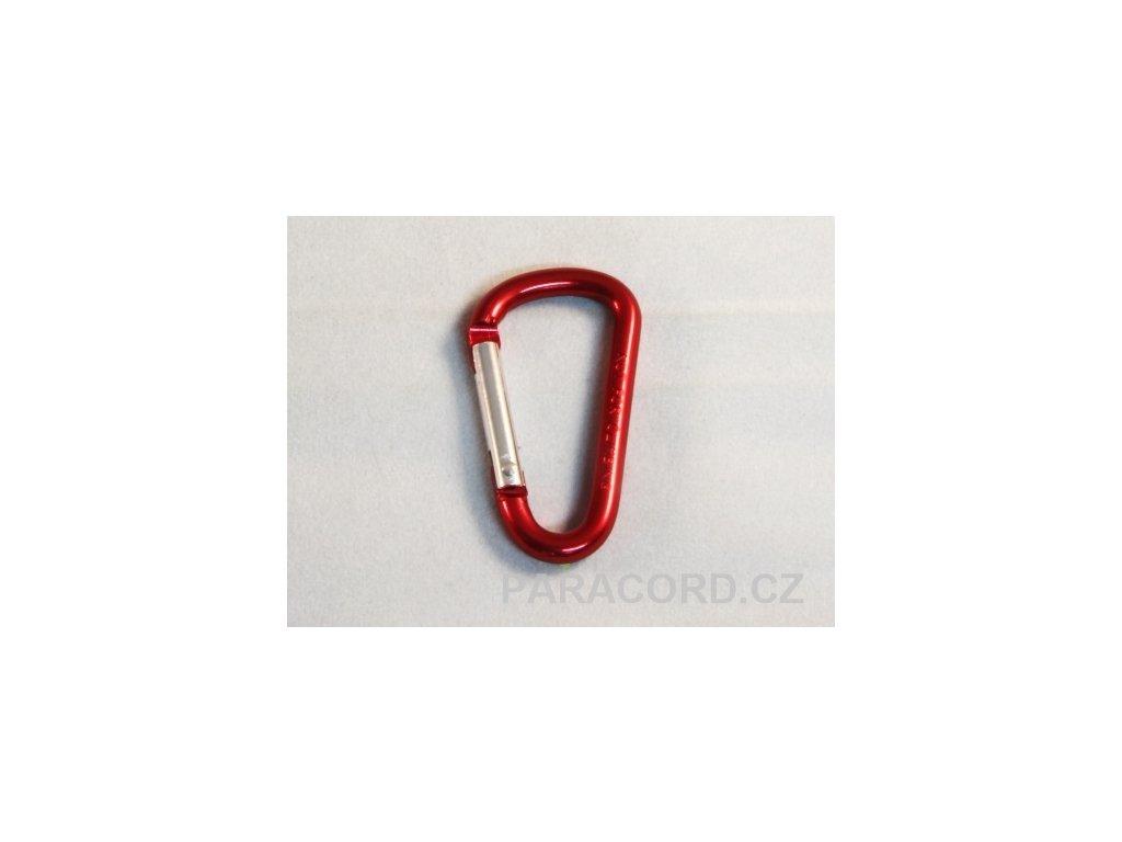 karabinka (5cm) - červená