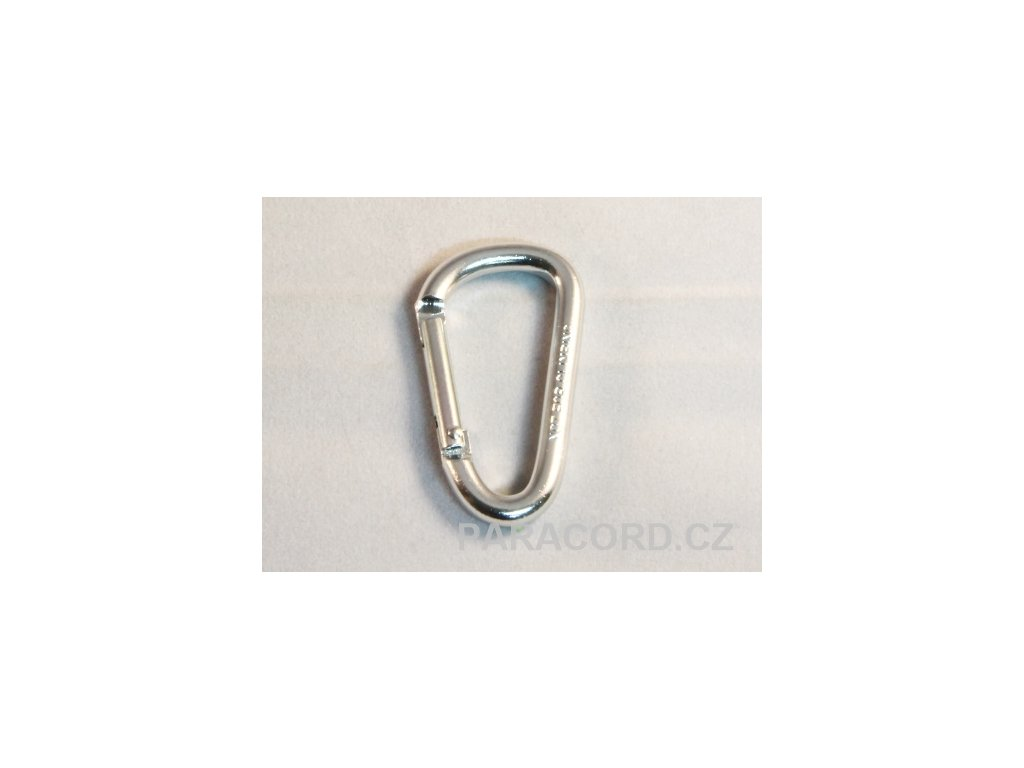karabinka (5cm) - stříbrná barva