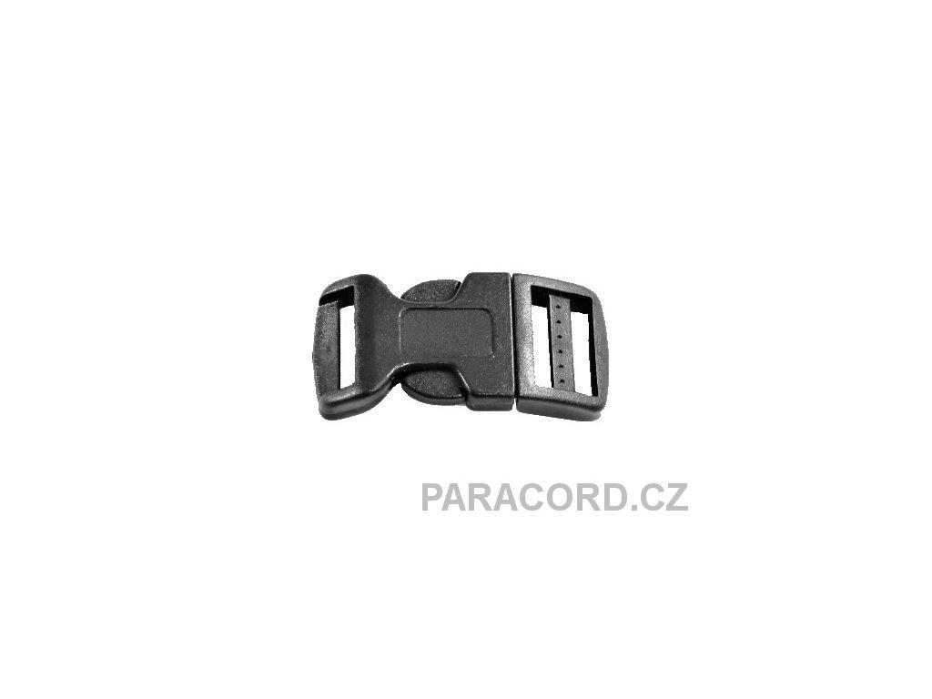 spona trojzubec - černá (20mm)