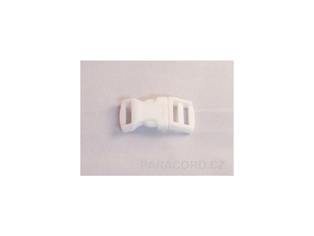 spona trojzubec - bílá (13mm)