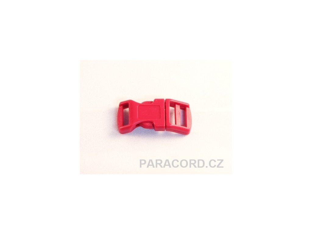 spona trojzubec - červená tmavá (13mm)