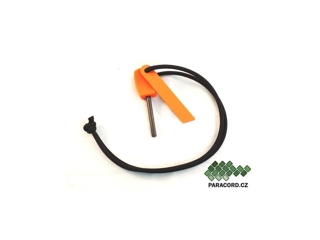 Magnéziové křesadlo - paracord (oranžová)