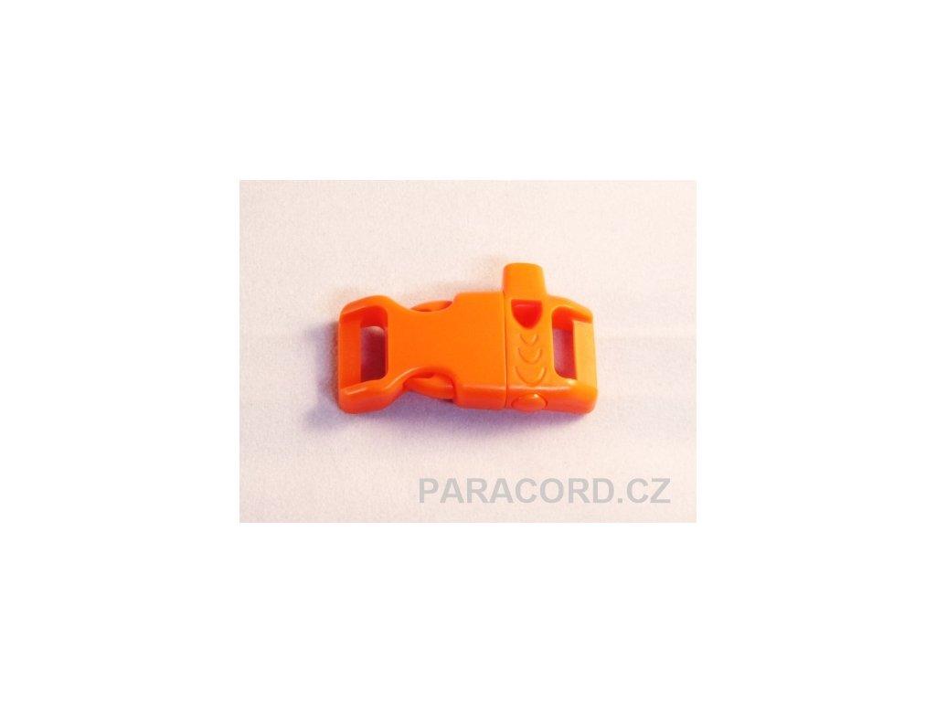 """Spona trojzubec """"píšťalka"""" (13mm) prohnutá - oranžová"""