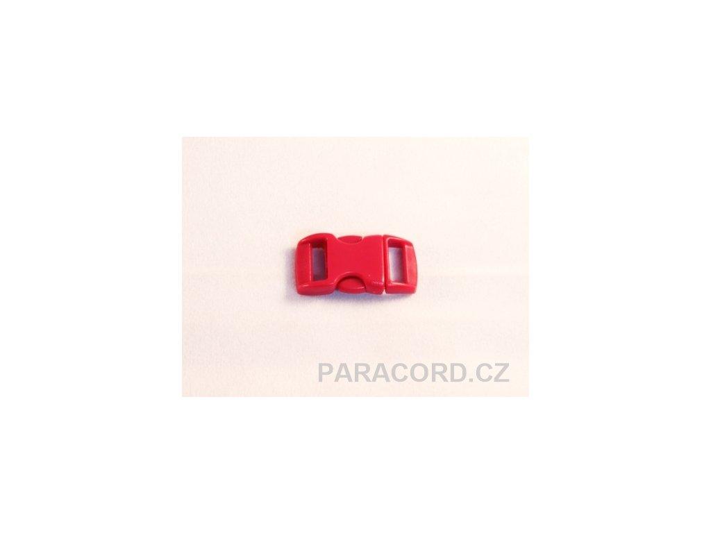 spona trojzubec - červená tmavá (10mm)